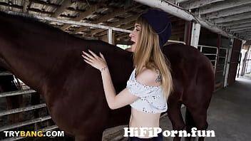 Teen fucked by horse