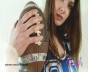 Football cheerleader from view full screen xenia crushova lewd mirco bikini oily video leak