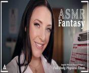 ASMRFantasy - Dr. Angela White gives Full Body Physical Exam from kaymak gibi sikilen amlar